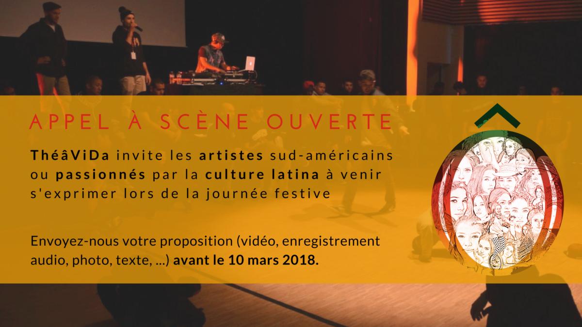 Scène ouverte à la création latino-américaine - ThéâViDa